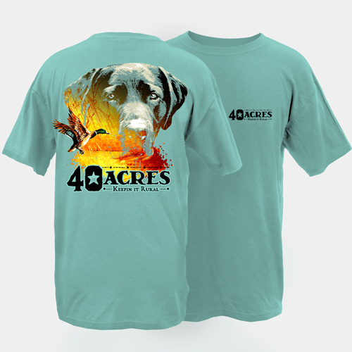 Fourty Acres Lab Duck Adult Short Sleeve T-Shirt