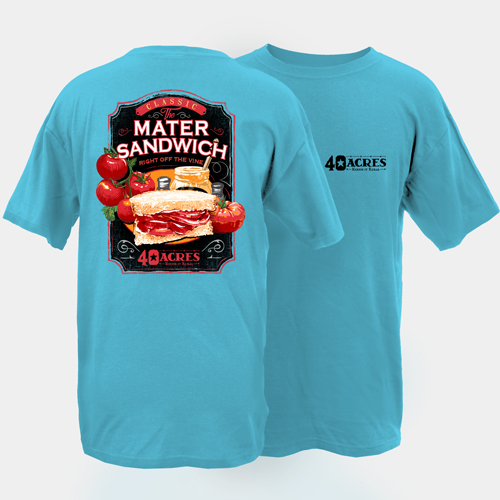 Fourty Acres Matter Sandwich Adult Short Sleeve T-Shirt