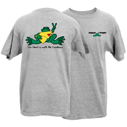 Peace Frogs Pray for the Carolinas Frog Short Sleeve T-Shirt