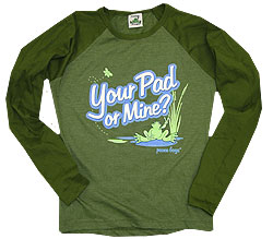 Peace Frogs Junior Your Pad Heathered Long Sleeve T-Shirt