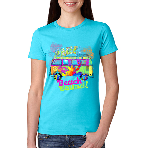Peace Frogs Ladies Beach Bound Short Sleeve T-Shirt