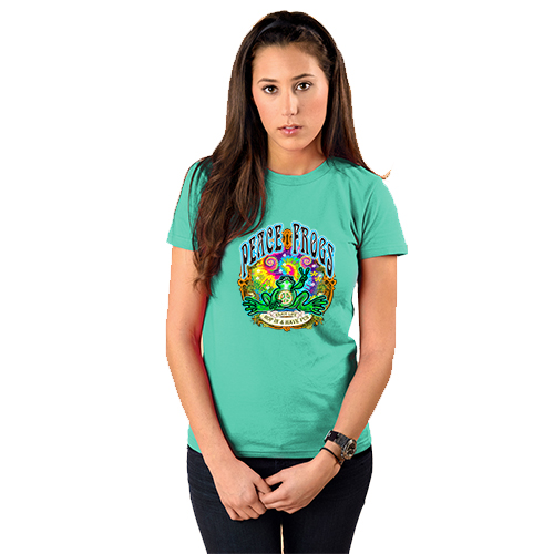 Peace Frogs Ladies Hop In Frog Short Sleeve T-Shirt
