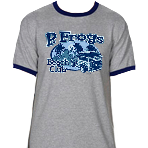 Peace Frogs Beach Club Frog Ringer Short Sleeve T-Shirt