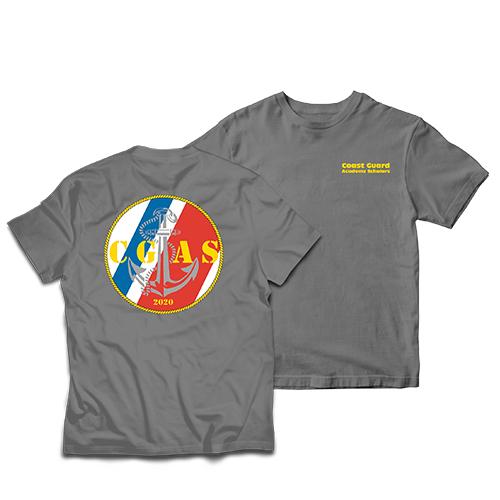 Coast Guard Academy Scholars Left Chest/Back Print Short Sleeve T-Shirt