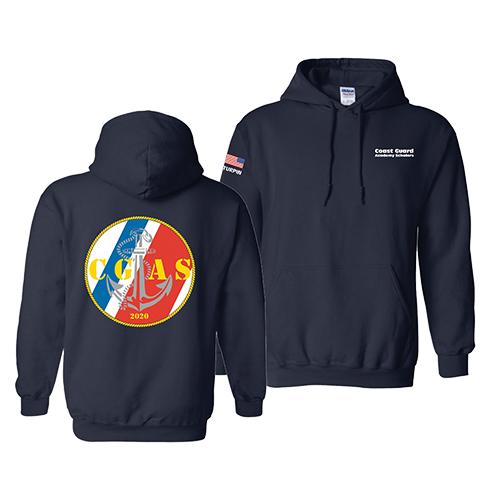 Coast Guard Academy Scholars Left Chest/Back Print/Sleeve Hood Sweat Pullover