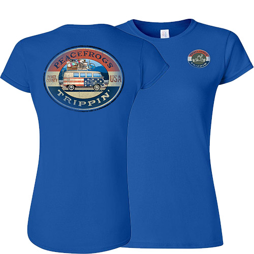 Peace Frogs Ladies Road Trippin Frog Short Sleeve T-Shirt