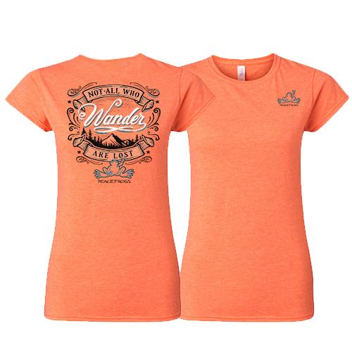 Peace Frogs Ladies Wander Frog Short Sleeve T-Shirt