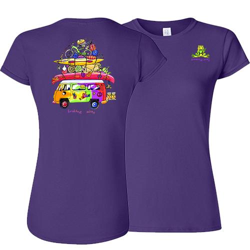 Peace Frogs Ladies Loaded Van Frog Short Sleeve T-Shirt