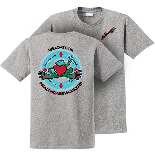 Peace Frogs Health Workers Appreciation Frog Short Sleeve T-Shirt