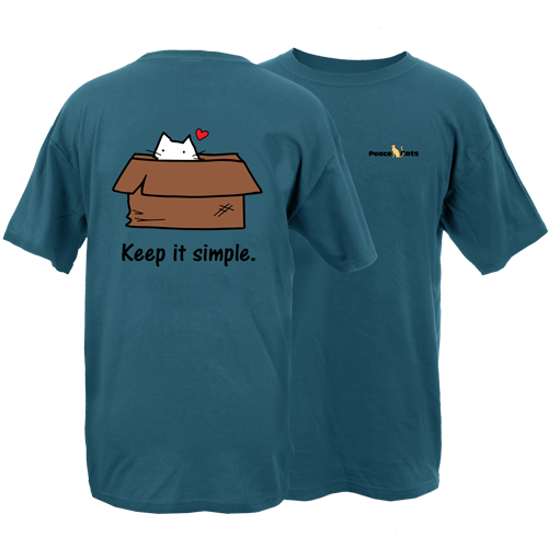 Keep It Simply Cat Peace Dogs Short Sleeve T-Shirt