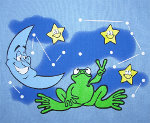 Peace Frogs Junior Night Sky Tank Top