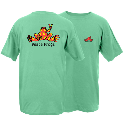 Peace Frogs Pineapple Fill Frog Garment Dye Short Sleeve T-Shirt