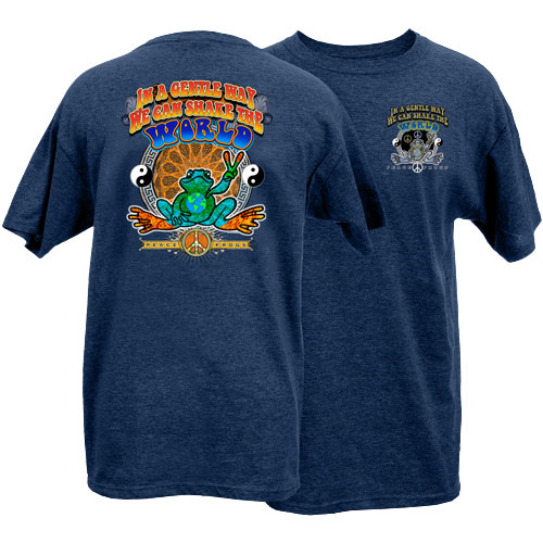 Peace Frogs Tile Short Sleeve T-Shirt