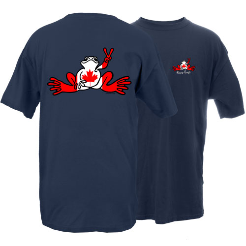 Peace Frogs Canada Flag Frog Short Sleeve T-Shirt