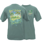 Peace Frogs Adult Don't Disturb The Peace Garment Dye Short Sleeve T-Shirt