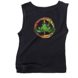 Peace Frogs Junior Neon Peace Sign Tank Top