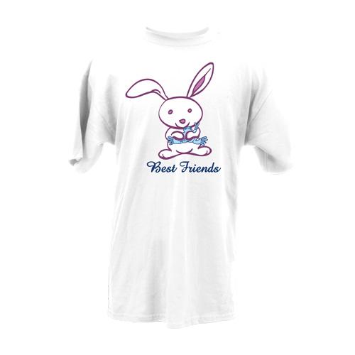 Peace Frogs Adult Best Friends Short Sleeve T-Shirt