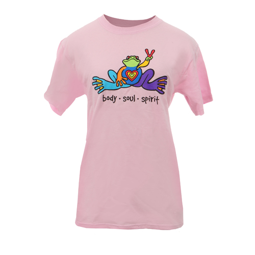 Peace Frogs Adult Body Soul Spirit Short Sleeve T-Shirt