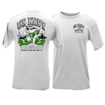 Peace Frogs Adult US Navy Short Sleeve T-Shirt