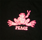 Peace Frogs Adult Polka Dot Short Sleeve T-Shirt