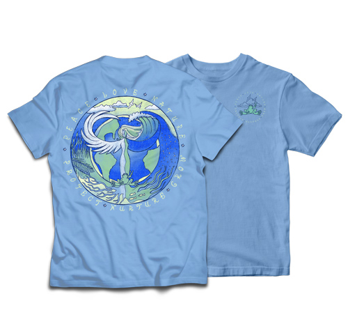 Peace Frogs Adult Mother Nature Short Sleeve T-Shirt