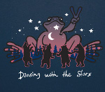 Peace Frogs Adult Dancing With The Stars Short Sleeve T-Shirt