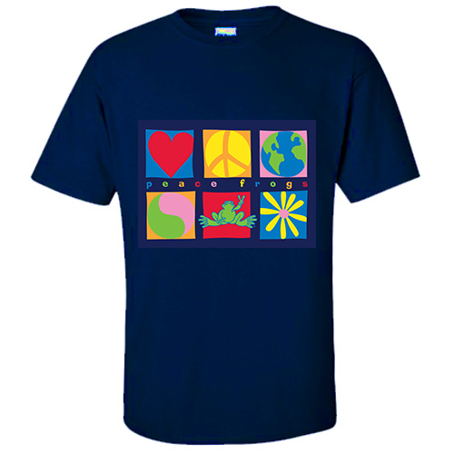Peace Frogs Adult Symbols Short Sleeve T-Shirt