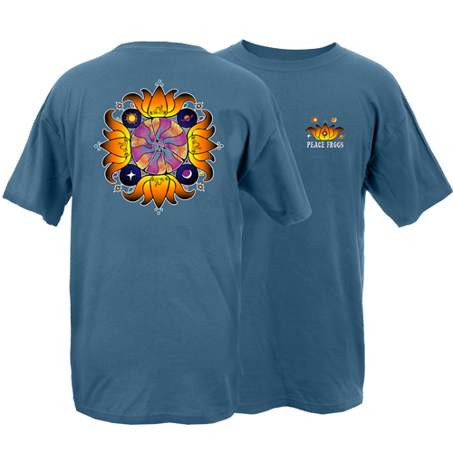 Peace Frogs Adult Crazy Lotus Short Sleeve T-Shirt