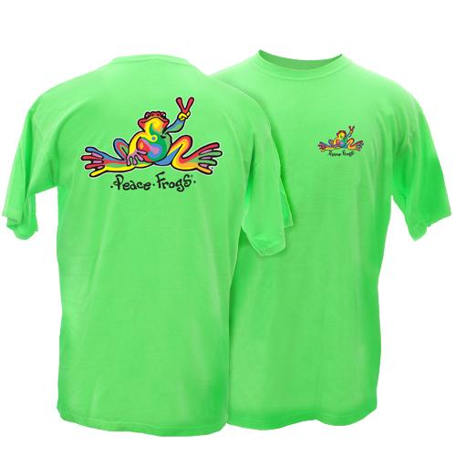 Very best Peace Frogs Adult Retro Frog Short Sleeve T-Shirt, Men Short  HA95