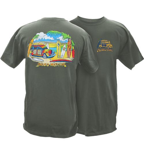 Peace Frogs Adult Board Meeting Garment Dye Short Sleeve T-Shirt