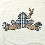 Peace Frogs Adult Plaid Frog Short Sleeve T-Shirt