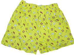 Peace Frogs Adult Breakfast Boxer