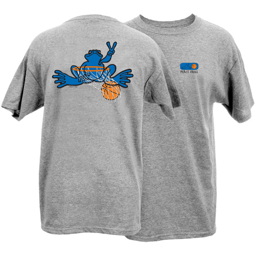 Peace Frogs Adult Granite Basketball Short Sleeve T-Shirt