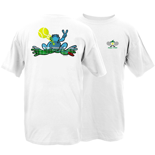 Peace Frogs Adult Tennis Short Sleeve T-Shirt