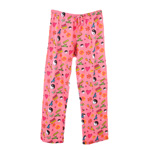 Peace Frogs Adult Peace Symbols Pajama Loungepant