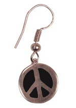 Peace Frogs Color Peace Sign Wire Earring