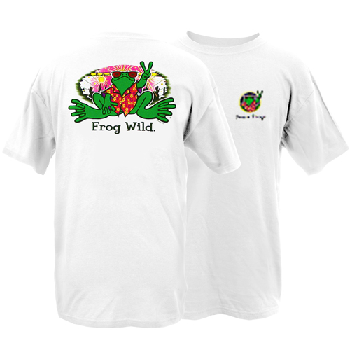 Peace Frogs Adult Frog Wild Short Sleeve T-Shirt