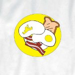 Peace Frogs Adult Breakfast Short Sleeve T-Shirt