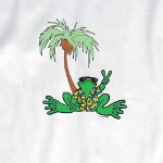 Peace Frogs Adult Hawaiian Short Sleeve T-Shirt
