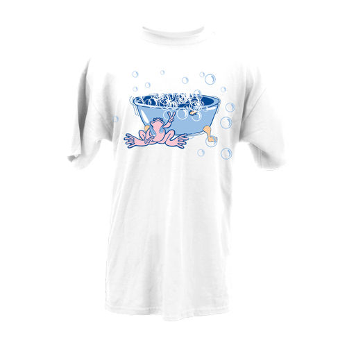 Peace Frogs Adult Bath Time Short Sleeve T-Shirt