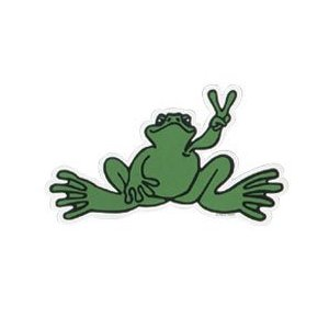 Peace Frogs Giant Green Frog Sticker