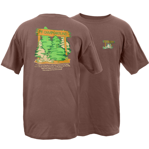 Peace Frogs Adult Campground Short Sleeve T-Shirt