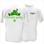 Peace Frogs Adult Feeling Lucky Short Sleeve T-Shirt