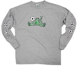 Peace Frogs Granite Soccer Net Adult Long Sleeve T-Shirt