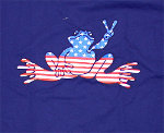 Peace Frogs Navy American Adult Long Sleeve T-Shirt