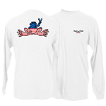 Peace Frogs American Adult Long Sleeve T-Shirt