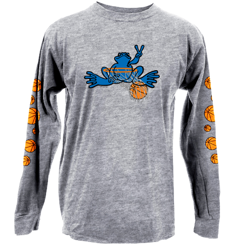 Peace Frogs Granite Basketball Adult Long Sleeve T-Shirt