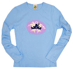 Peace Frogs Angel Junior Long Sleeve T-Shirt
