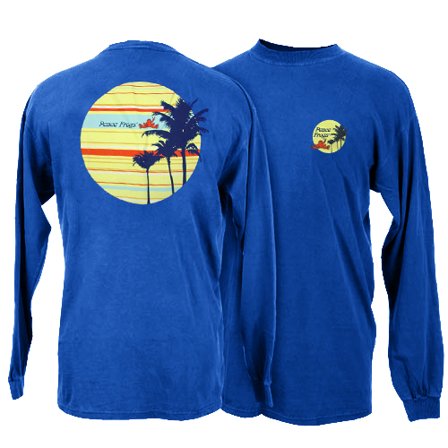 Peace Frogs Striped Sun Adult Long Sleeve T-Shirt
