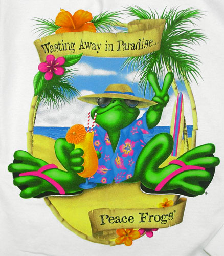 Peace Frogs Paradise Adult Long Sleeve T-Shirt